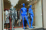 Shop window display News Vrimmell clothing,  Bergen, Norway