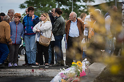 May 10, 2017 - Rome, Italy, Italy - Garrison in solidarity with the three Gypsy sisters killed inside a camper in a parking lot near Centocelle. (Credit Image: © Andrea Ronchini/Pacific Press via ZUMA Wire)