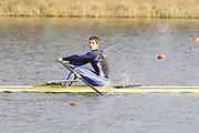 Eton, United Kingdom    GBR M1X, Sam Townsend  winning the men's B Final, single Sculls,  at the 2012 GB Rowing Trials, Dorney Lake. Near Windsor Berks Sunday  11/03/2012  [Mandatory Credit; Peter Spurrier/Intersport-images]