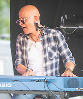 Dino Baptiste and band  live at the Picnic at the Palace at  Blenheim Palace ,woodstock oxfordshire 15 aug 2020 Photo by Brian Jordan