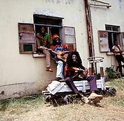 Foundation - Reggae group in yard.