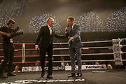 BOXEN: EC Boxing, Hamburg, 06.07.2019<br /> Weltergewicht IBO-Weltmeisterschaft: Sebastian Formella (GER) - Tulani Mbenge (RSA): Jimmy Lennon jr. und Ingo Rohrbach<br /> © Torsten Helmke