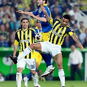 Fenerbahce's Cristian Oliveira BARONI (R) during their Turkish superleague soccer match Fenerbahce between Ankaragucu at the Sukru Saracaoglu stadium in Istanbul Turkey on Sunday 15 May 2011. Photo by TURKPIX