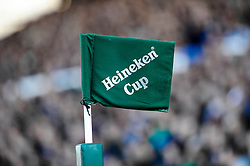Heineken Cup corner flas as seen during the first half of the match - Photo mandatory by-line: Rogan Thomson/JMP - Tel: Mobile: 07966 386802 21/10/2012 - SPORT - RUGBY - Cardiff Arms Park - Cardiff. Cardiff Blues v Toulon (RC Toulonnais) - Heineken Cup Round 2