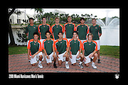 2010 Miami Hurricanes Men's Tennis Team Photo