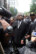 Rev. Al Sharpton at the funeral for NYPD Officer Omar Edwards held at Our Lady of Victory in Brooklyn on June 4, 2009..NYPD Officer Omar Edwards posthumusly promoted to the rank of Detective was killed by NYPD Detective Andrew Dunton in a case of friendly fire, when Edwards was takened for a suspect with gun in hand. On Thursday June 4 2009, Officer Omar J. Edwards, 25, was shot by a fellow officer on a Harlem street while in street clothes. He had just finished his shift, and had his service weapon out, chasing a man who had broken into his car, police said. Three plainclothes officers on routine patrol arrived at the scene and yelled for the two to stop, police said. One officer, Andrew Dunton, opened fire and hit Edwards three times as he turned toward them with his service weapon. It wasn't until medical workers were on scene that it was determined he was a police officer.