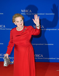 Former United States Secretary of State Madeleine Albright arrives for the White House Correspondents' Association (WHCA) dinner in Washington, D.C., on Saturday, April 29, 2017 (Photo by Riccardo Savi)  *** Please Use Credit from Credit Field ***