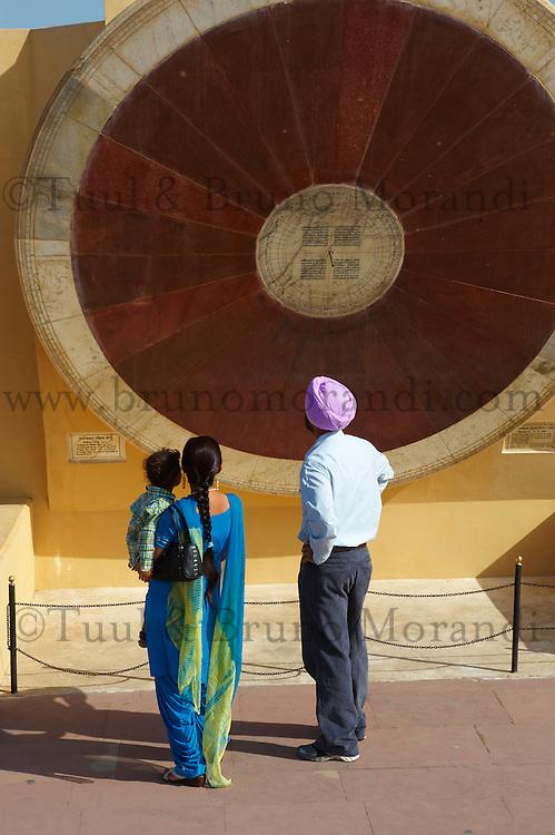 Inde, Rajasthan, Jaipur la ville rose, Observatoir Astronomique (Jantar Mantar). // India, rajasthan, Jaipur the Pink City, Oservatory (jantar Mantar).