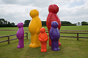 Jelly Baby family by Mauro Peruchetti  The Dalwhinnie Crook  charity Polo match  at Longdole  Polo Club, Birdlip  hosted by the Halcyon Gallery. . 12 June 2010. -DO NOT ARCHIVE-© Copyright Photograph by Dafydd Jones. 248 Clapham Rd. London SW9 0PZ. Tel 0207 820 0771. www.dafjones.com.