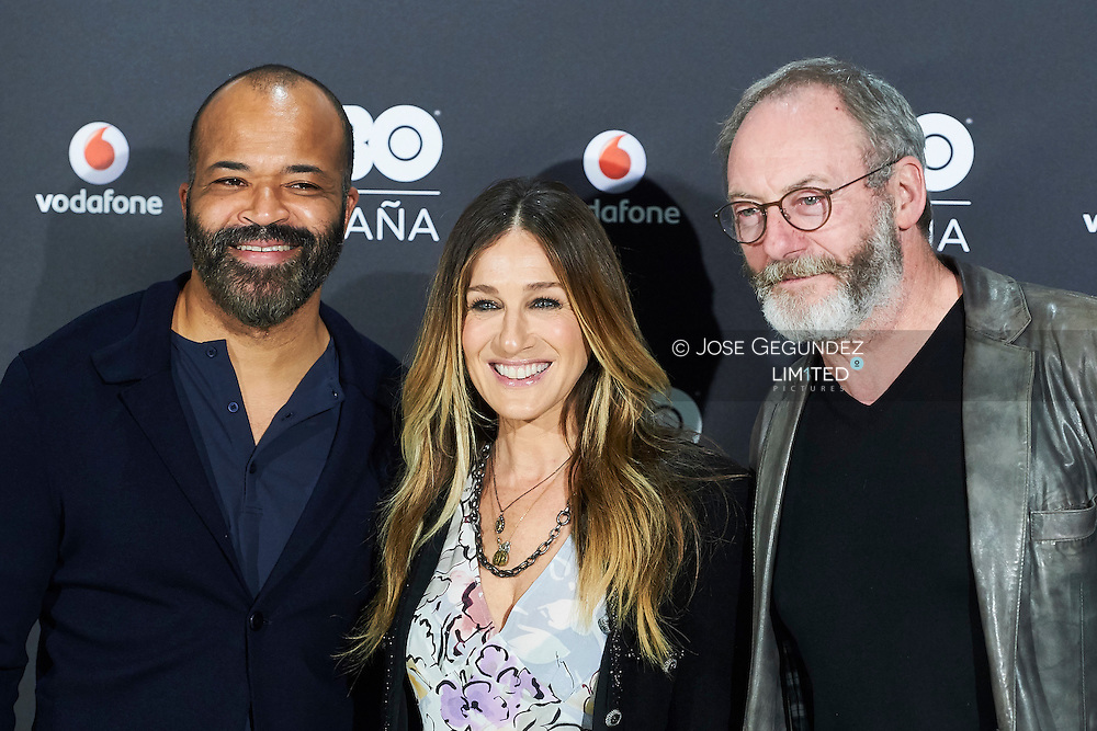 Liam Cunningham, Sarah Jessica Parker, Jeffrey Wright attended the Launch of HBO Spain photocell at URSO Hotel & Spa on December 15, 2016 in Madrid