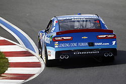September 27, 2018 - Concord, North Carolina, United States of America - Elliott Sadler (1) races through the turns during practice for the Drive for the Cure 200 at Charlotte Motor Speedway in Concord, North Carolina. (Credit Image: © Chris Owens Asp Inc/ASP via ZUMA Wire)