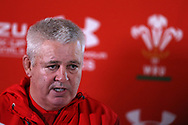 Warren Gatland, the Wales rugby head coach speaks to the media as he announces his team to face the Allblacks. Wales rugby team announcement press conference at the Vale Resort Hotel in Hensol, near Cardiff , South Wales on Thursday 23rd November 2017.  the team are preparing for their Autumn International series test match against New Zealand this weekend.   pic by Andrew Orchard
