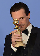 JON HAMM @ the 73rd Annual Golden Globe awards held @ the Beverly Hilton hotel.<br /> ©Exclusivepix Media