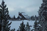 Old Faithful Inn, closed for winter, Yellowstone National Park