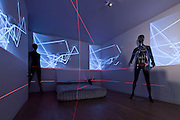 Relative Space flooring, Pryor Callaway Light/Video Installation and 'Stratum Nest' tables