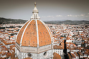 The Duomo from Giotto's Bell Tower (Campanile di Giotto), Florence, Tuscany, Italy