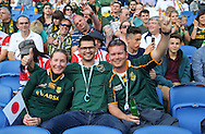 Fans before the Rugby World Cup Pool B match between South Africa and Japan at the Community Stadium, Brighton and Hove, England on 19 September 2015. Photo by Phil Duncan.