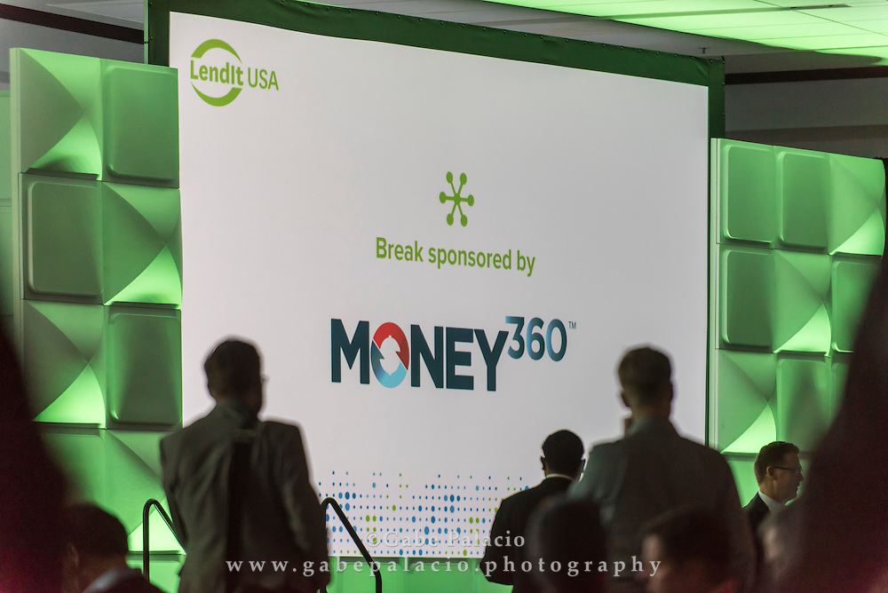 Break sponsored by Money 360 at the LendIt USA 2016 conference in San Francisco, California, USA on April 11, 2016. (photo by Gabe Palacio)