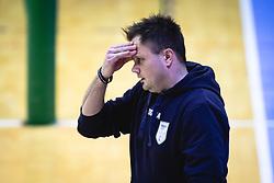 Hribar Aleš, head coach of Panvita Pomgrad reacts during volleyball match between Panvita Pomgrad and Šoštanj Topolšica of 1. DOL Slovenian National Championship 2019/20, on December 14, 2019 in Osnovna šola I, Murska Sobota, Slovenia. Photo by Blaž Weindorfer / Sportida