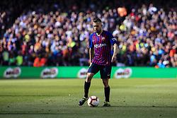 March 30, 2019 - Barcelona, Catalonia, Spain - 18 Jordi Alba of FC Barcelona during the ''Derby'' of La Liga match between FC Barcelona and RCD Espanyol in Camp Nou Stadium in Barcelona 30 of March of 2019, Spain. (Credit Image: © Xavier Bonilla/NurPhoto via ZUMA Press)