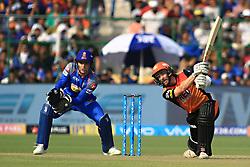 April 29, 2018 - Jaipur, Rajasthan, India - Sunrisers  Hyderabad batsman Kane Williamson  plays a shot during the IPL T20 match against Rajasthan Royals at Sawai Mansingh Stadium in Jaipur on 29th April,2018. (Credit Image: © Vishal Bhatnagar/NurPhoto via ZUMA Press)