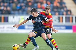 Falkirk's Ruben Sammut and Partick Thistle's Craig Slater. Falkirk 1 v 1 Partick Thistle, Scottish Championship game played 17/11/2018 at The Falkirk Stadium.