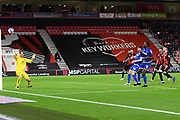 Sammy Ameobi (11) of Nottingham Forset shoot at goal and misses during the EFL Sky Bet Championship match between Bournemouth and Nottingham Forest at the Vitality Stadium, Bournemouth, England on 24 November 2020.