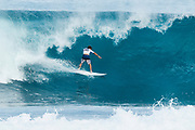 Wildcard Benji Brand of HAwaii will surf in Round Two of the 2017 Billabong Pipe Masters after placing second in Heat 5 of Round One at Pipe, Oahu, Hawaii, USA.  Brand was part of the upset heat when World Title contender Gabriel Medina of Brazil placed third in the heat.