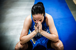 Nika Baric of Slovenia looks dejected after the basketball match between Women National teams of Belgium and Slovenia in the Qualification for the Quarter-Finals of Women's Eurobasket 2019, on July 2, 2019 in Belgrade Arena, Belgrade, Serbia. Photo by Vid Ponikvar / Sportida