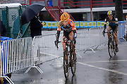 Belgium, Sunday 13th December 2015: Wout Van Aert on lap 2 of the elite men's race at the Hansgrohe Superprestige cyclocross races at Spa Francorchamps.<br /> <br /> Copyright 2015 Peter Horrell