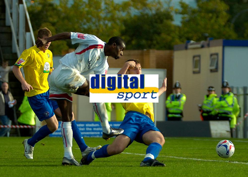 Photo: Ed Godden.<br /> Milton Keynes Dons v Hereford United. Coca Cola Championship. 21/10/2006. Izale McLeod (c) scores for MK Dons.