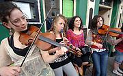 Cousins Kathleen, Catriona, Nathalie and Ornait Ni Chasaide, Ranelagh, Dublin  performing at Cahersiveen Music Festival.<br /> Photo: macmonagle.com