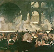 The Ballet Scene from Meyerbeer's Opera 'Roberto il Diavolo'', 1876. Edgar Desgas (1834-1917) French Impressionist painter.
