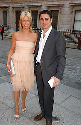 CEM & CAROLINE HABIB at the Royal Academy of Art's SUmmer Party following the official opening of the Summer Exhibition held at the Royal Academy of Art, Burlington House, Piccadilly, London W1 on 7th June 2006.<br />