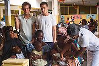 One Direction attend a vaccination clinic at Princess Mary Louise Hospital, Accra, Ghana