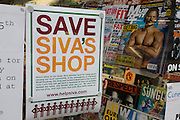 Local campaign to help raise funds for Siva's convenience store. After the riots of London and other UK cities, Sri Lankan-born Sivaharan (Siva) Kandiah's looted shop 'Clarence Convenience Store' in Clarence Road, Hackney.