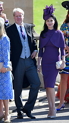 Earl Spencer and his wife Countess Spencer arrive with other guest at St George's Chapel at Windsor Castle for the wedding of Prince Harry and Meghan Markle.