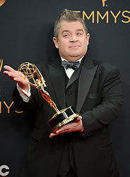 Patton Oswalt poses in the press room during the 68th Annual Primetime Emmy Awards at Microsoft Theater on September 18, 2016 in Los Angeles, CA, USA. Photo by Lionel Hahn/ABACAPRESS.COM