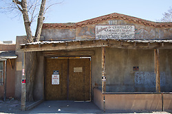 old storefront in Cerrillos, New Mexico