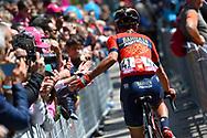 Domenico Pozzovivo (ITA - Bahrain - Merida) during the 101th Tour of Italy, Giro d'Italia 2018, stage 10, Penne - Gualdo Tadino 239 km on May 15, 2018 in Italy - Photo Dario Belingheri / BettiniPhoto / ProSportsImages / DPPI