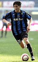 Fotball<br /> Serie A Italia<br /> Foto: Graffiti/Digitalsport<br /> NORWAY ONLY<br /> <br /> 16/10/05 <br /> Inter v Livorno 5-0<br /> <br /> Santiago Solari<br /> <br /> On Inter tee shirt sponsor Pirelli written in Chinese language due market campaign