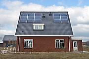 Nederland, Nijmegen, 20-2-2013Nieuwbouwhuizen in de vinex wijk Waalsprong hebben zonnepanelen.Foto: Flip Franssen/Hollandse Hoogte