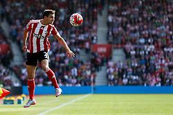 Southampton's Cedric Soares heads the ball - Mandatory by-line: Jason Brown/JMP - 07966 386802 - 26/09/2015 - FOOTBALL - Southampton, St Mary's Stadium - Southampton v Swansea City - Barclays Premier League