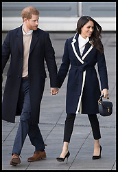 March 8, 2018 - Birmingham, United Kingdom - Image licensed to i-Images Picture Agency. 08/03/2018. Birmingham , United Kingdom. Prince Harry and Meghan Markle leaving an event to celebrate International Women's Day at Millennium Point in Birmingham, United Kingdom. (Credit Image: © Stephen Lock/i-Images via ZUMA Press)