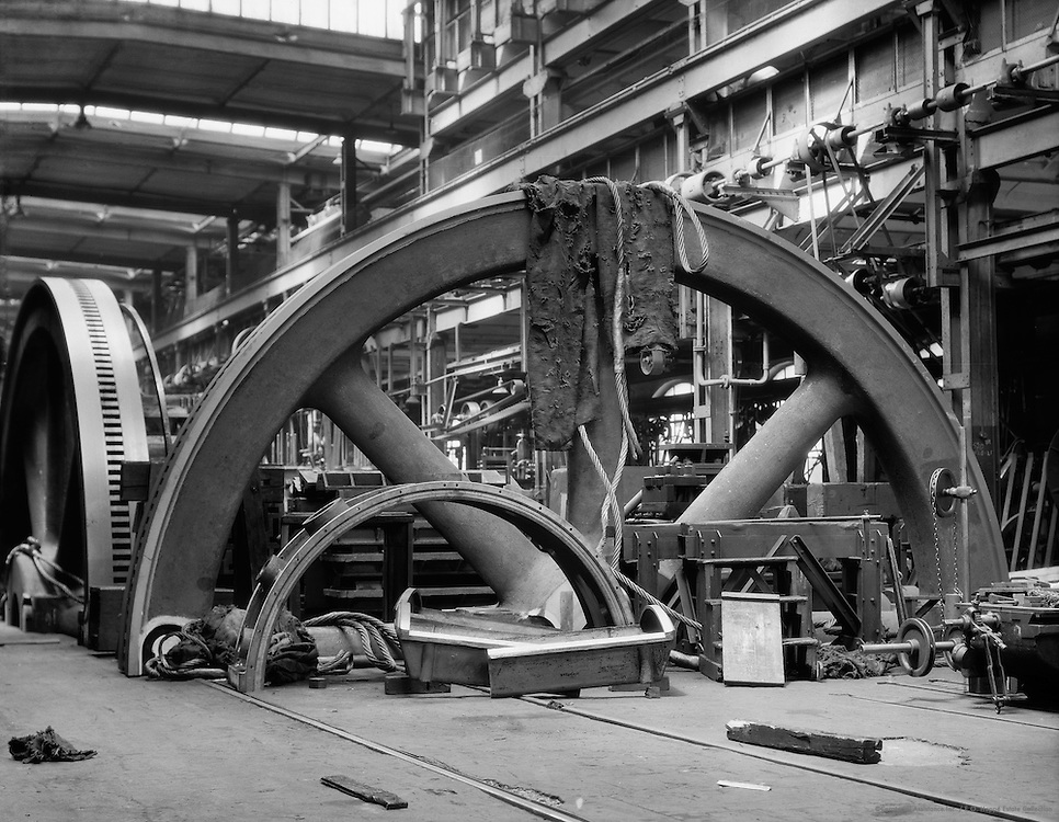 Large Steel Wheel Halves, MAN Maschinenfabrik Augsburg-Nürnberg, Nürnberg, 1928