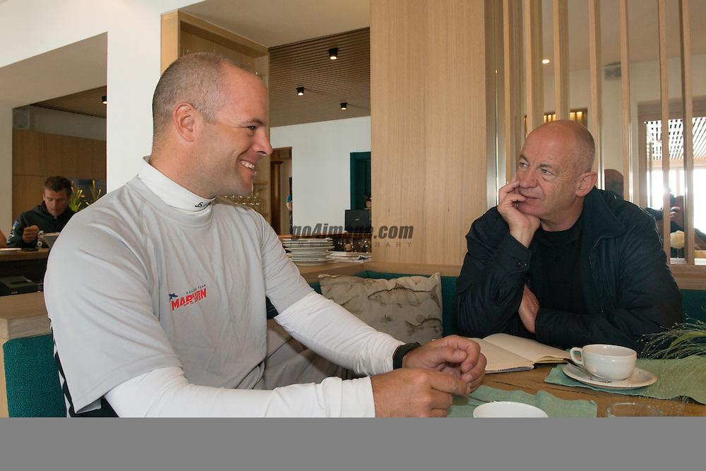 Mai 2013 Austria, Traunsee Gmunden Marwin Sailing Team racing in the Traunseewoche 2013, Owner and Skipper Flavio Marazzi