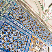 Buildings and decorations in the Enderun, or Inner Palace, at Topkapi Palace. On a peninsula overlooking both the Bosphorus Strait and the Golden Horn, Topkapi Palace was the primary residence of the Ottoman sultans for approximately 400 years (1465–1856) of their 624-year reign over Constantinople and the Ottoman Empire. Today it is one of Istanbul's primary tourist attractions.