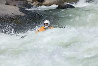 Whitewater kayaking in Tumwater Canyon of the Wenatchee River Washington USA