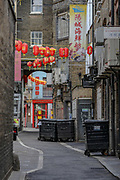 Backstreets of ghostly China Town are seen nearly empty in London as the country continues in lockdown to curb the spread of coronavirus pandemic outbreak, Monday, May 4, 2020. The disease has been detected in at least 187 countries and territories, with Italy, Iran, Spain and the US lately experiencing the most widespread outbreaks outside of China. In the UK, there have been 186,599 confirmed cases and 28,446 deaths until the 3rd of May. (Photo/ Vudi Xhymshiti)