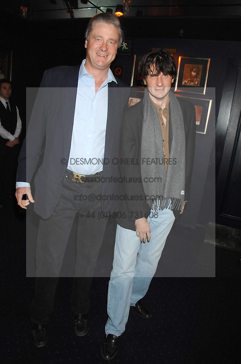 Left to right, brothers the MARQUESS OF WORCESTER and LORD JOHNSTON SOMERSET at a party to celebrate the publication of the 2007 Tatler Little Black Book held at Tramp, 40 Jermyn Street, London on 7th November 2007.<br />